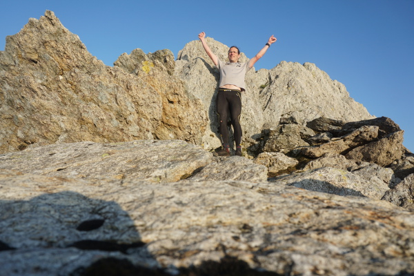 Celebrating on the final peak, Glyder Fawr. Sorry about the picture - there was nobody else up there to take it!