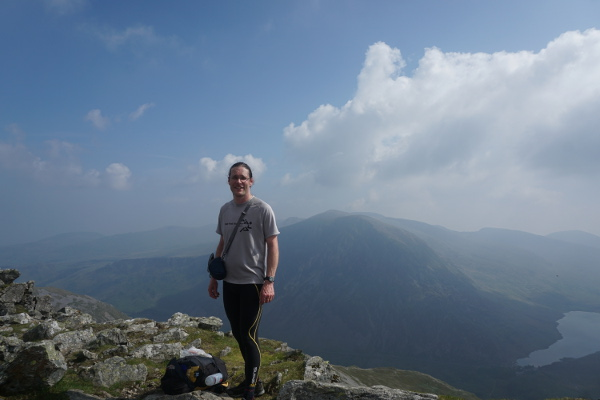 Y Garn summit, with Pen yr Ole Wen and the Carnedds behind. Five down, ten to go...