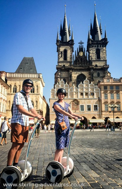 On Segways in Prague's Old Town Square