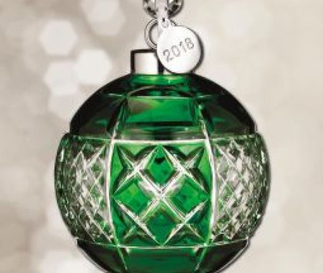 Waterford Emerald Cased Ball Crystal Ornament