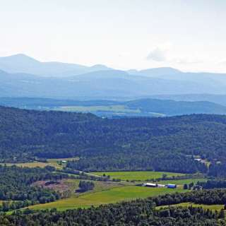 Craftsbury Common from the air