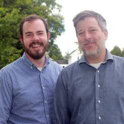 Matthew Derr (right) is the eleventh president of Sterling College. He and his partner, Julian Sharp (left), make their home on Cedar Cottage on campus.