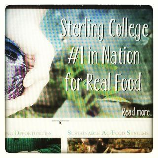 Sterling College #1 in Nation for Real Food