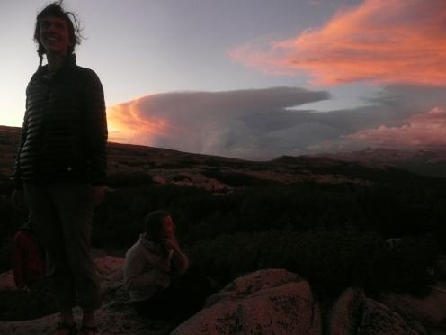 Observing the sunset in the California mountains (Summer 2017)