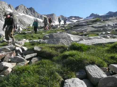 Hiking in the snowy mountains of California Summer 2017