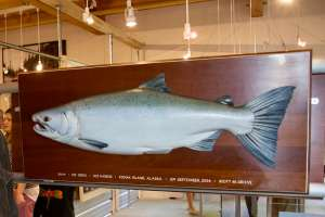 wood carving of fish
