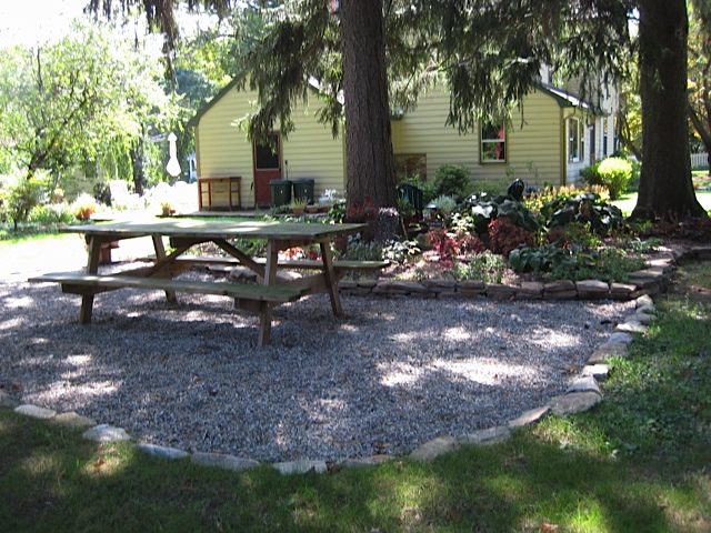 Pea Gravel Patio - Sterling Horticultural Services on Pebble Patio Ideas id=99414