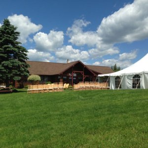 mansfield house with wedding tent