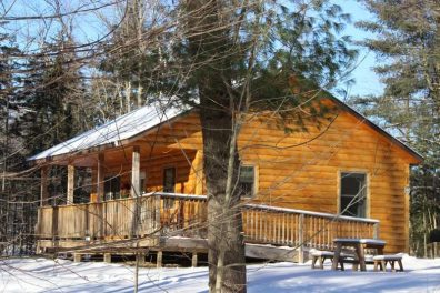 Log cabins with two bedrooms in winter   Sterling Ridge Resort