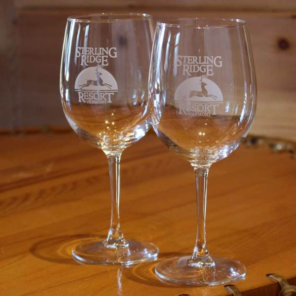 Sterling Ridge Resort wine glass