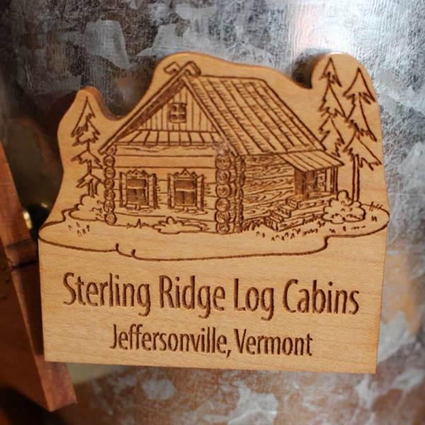 Wooden Sterling Ridge Resort Magnet