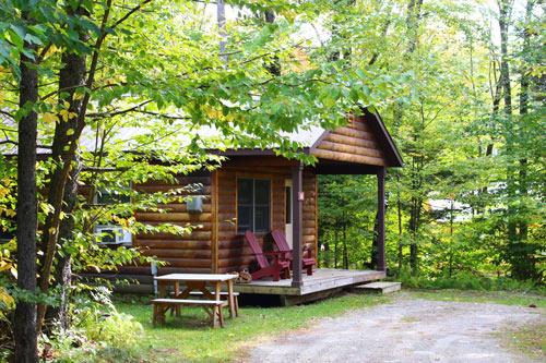 vermont log cabin rental - studio cabin at sterling ridge resort