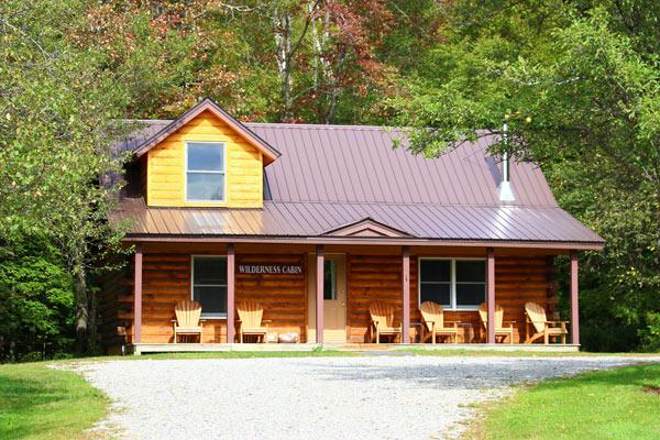 large cabin rental in vermont   Sterling Ridge Log Cabin Resort
