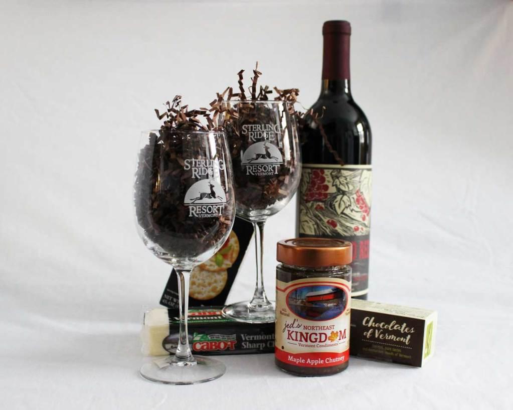 Taste of Vermont wine basket