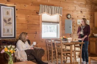Kitchen area in a 2 bedroom cabin at Sterling Ridge Log Cabin Resort