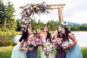 outdoor wedding in vermont