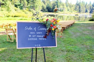 outdoor ceremony sign
