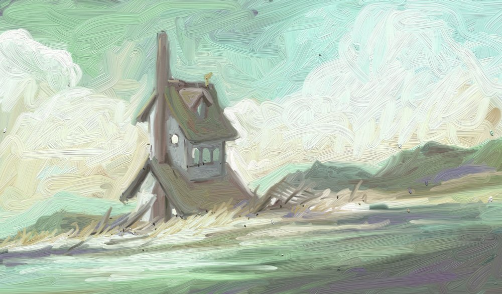 a house on the rocks