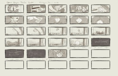 Space chimps promo storyboards