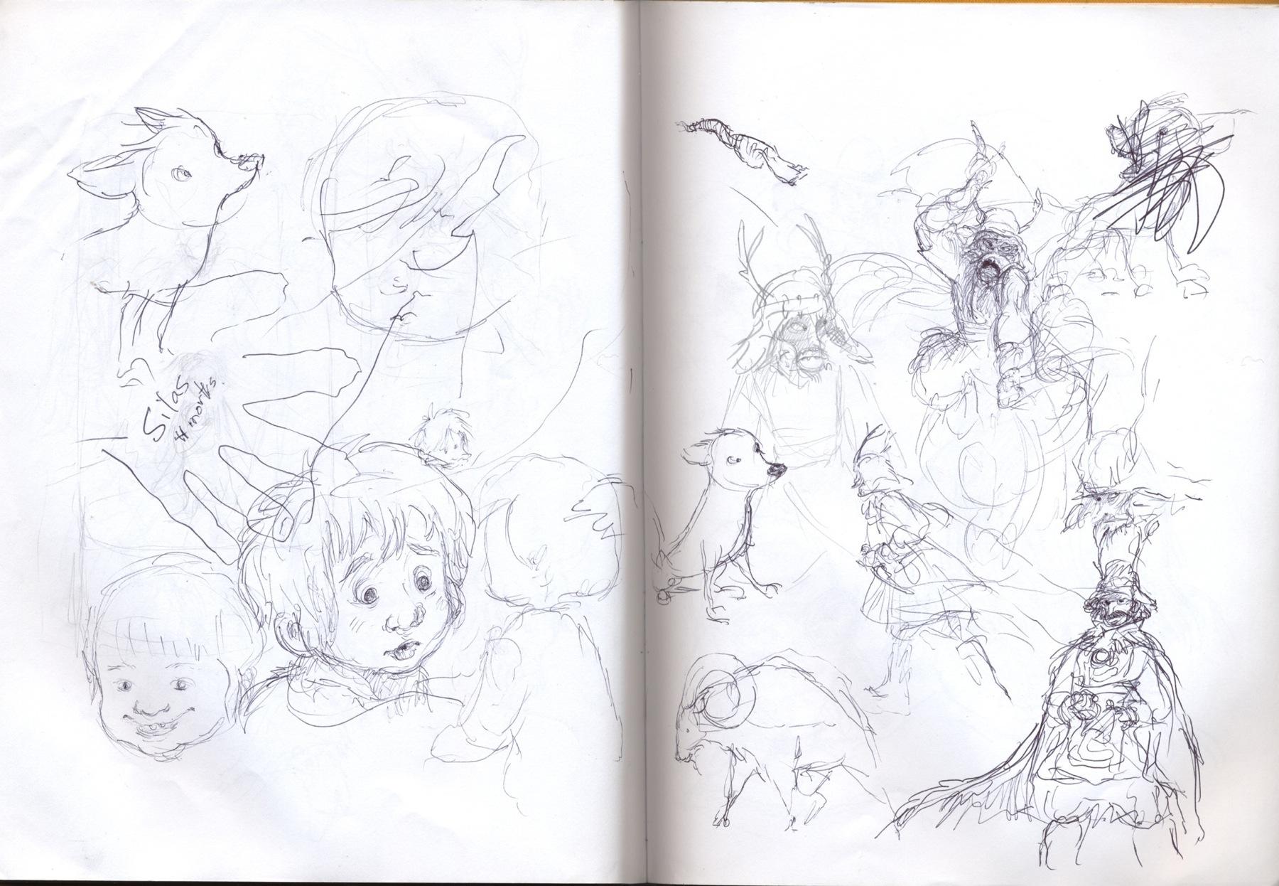 sketchbook drawing bandit
