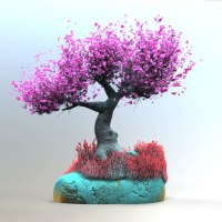 fibermesh tree render