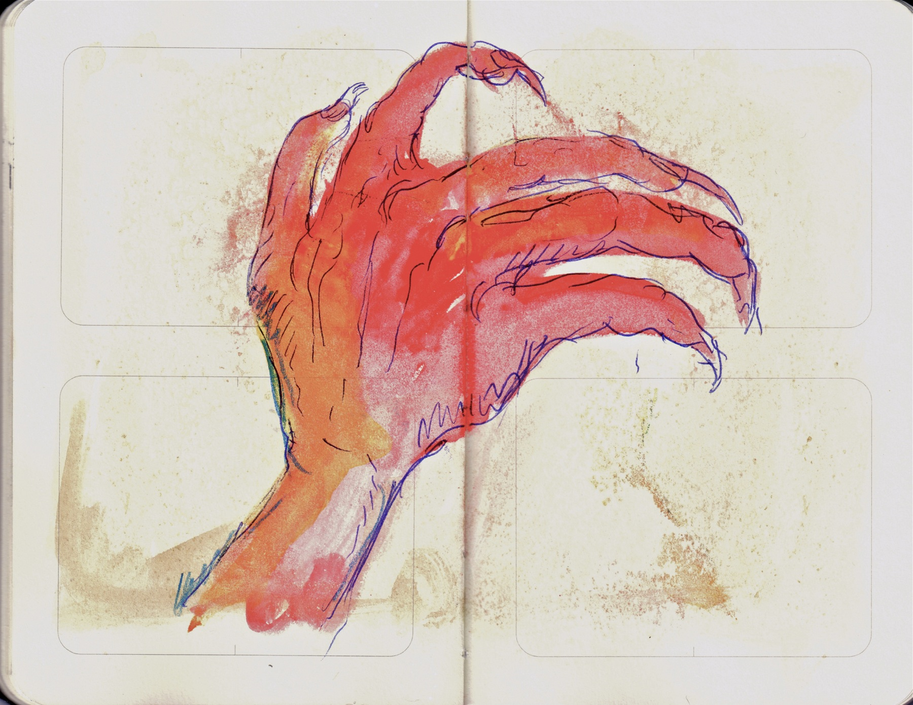 watercolor hand