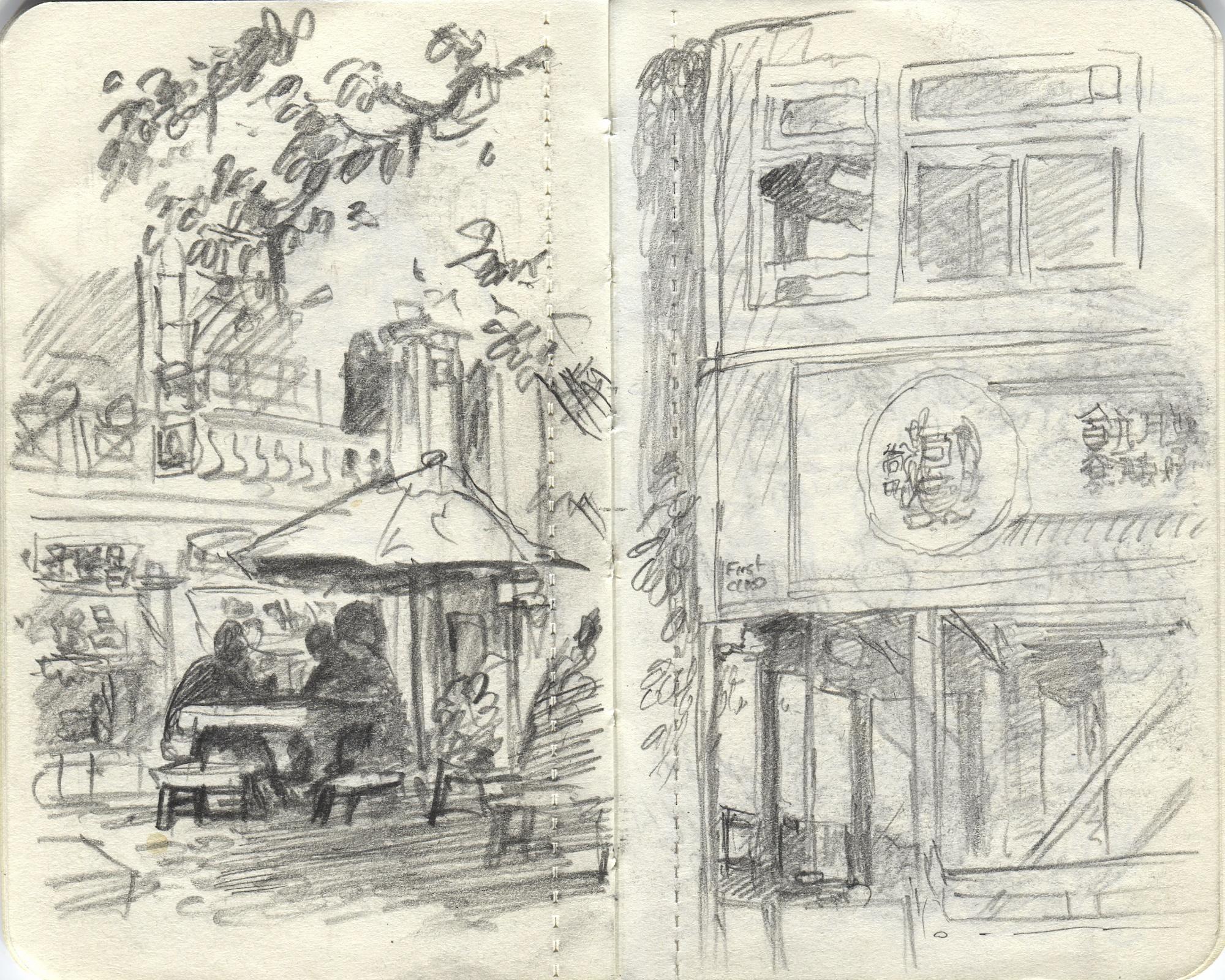 tram drawing