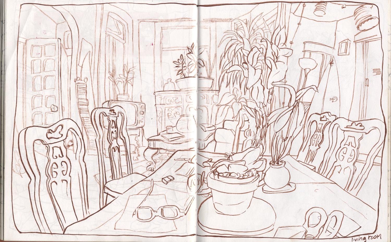 lemoyne house living room