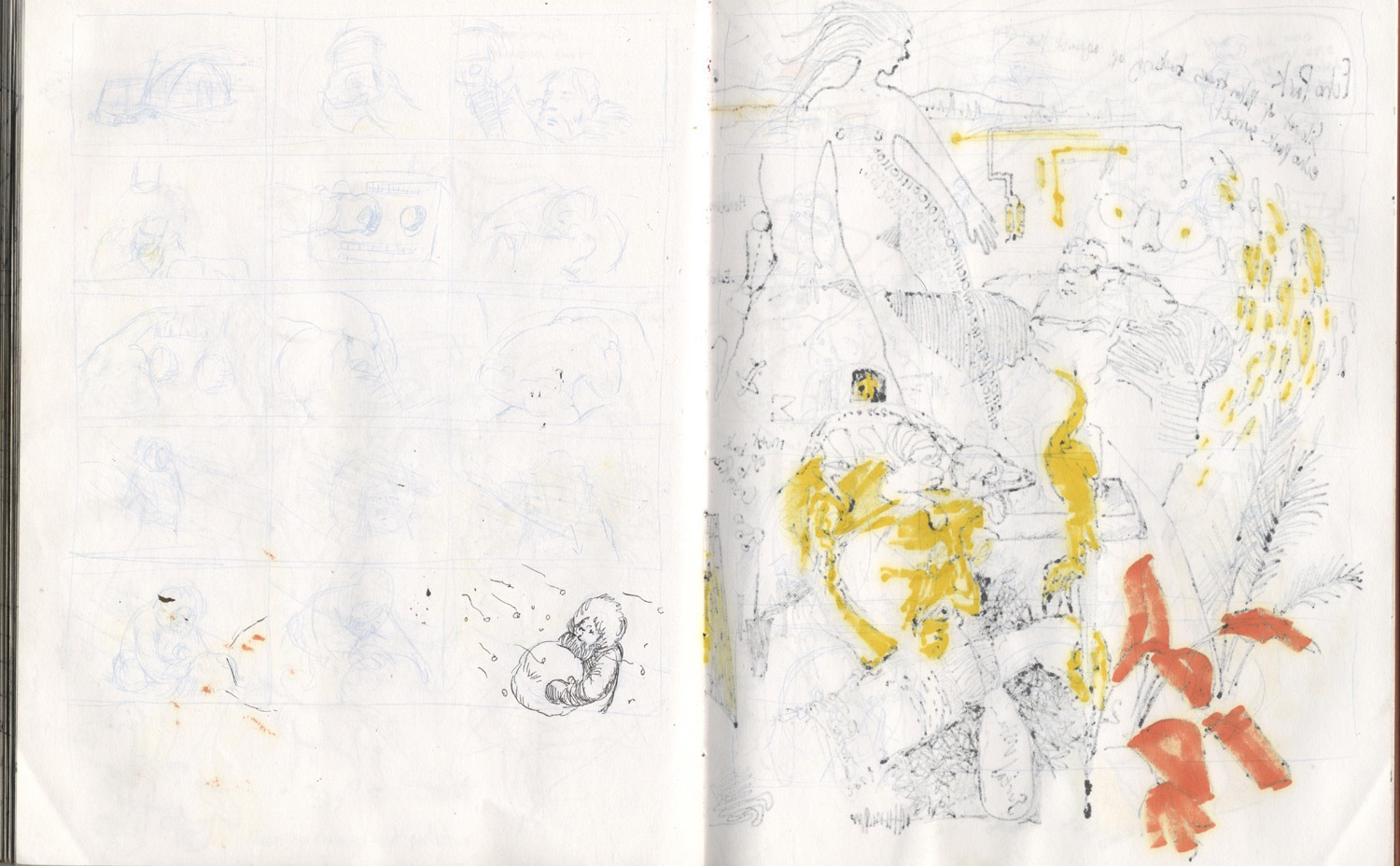 faded drawings