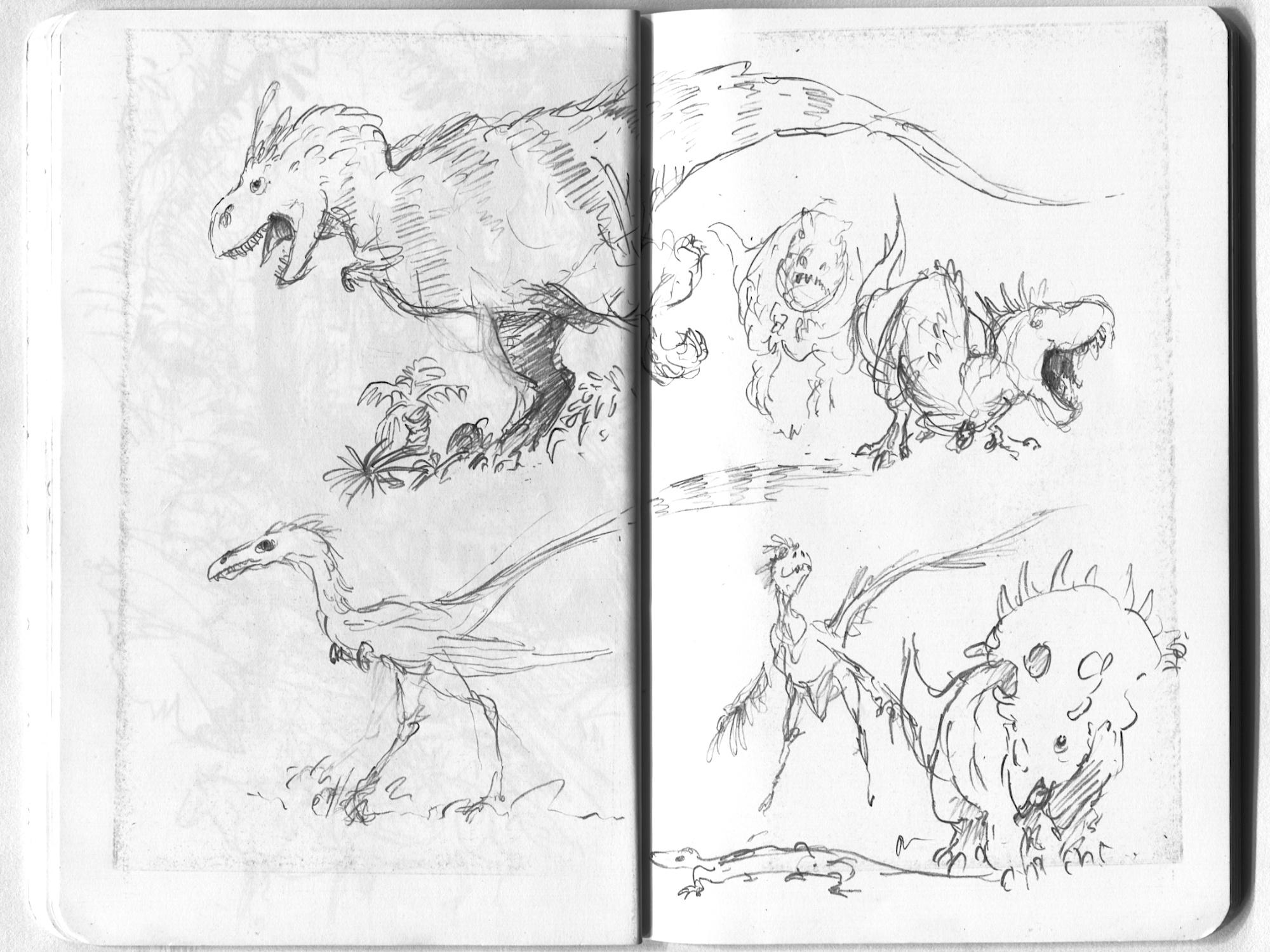 dino sketches