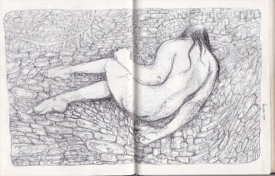 nude female figure drawing