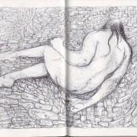 nude female figure drawing