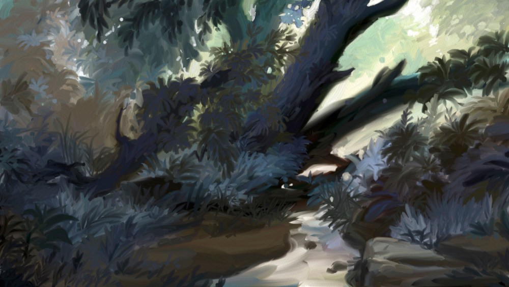 creek digital sketch