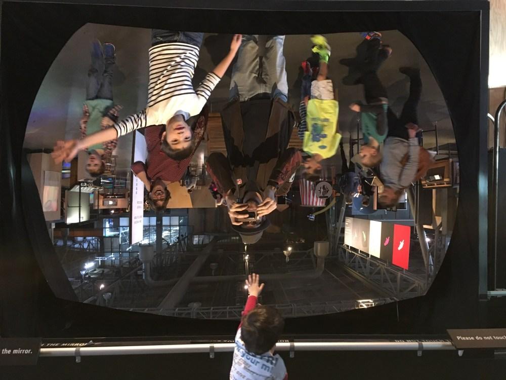 Exploratorium giant mirror exhibit