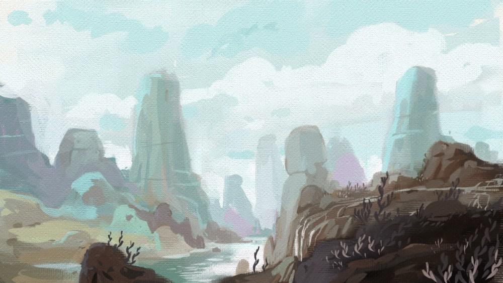 blue crag mountains