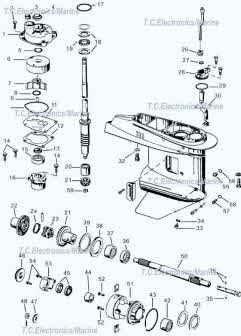 Evinrude  Johnson outboard parts drawings * How to videos