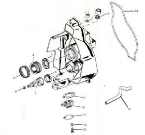 Mercruiser parts drawing *Gimbal housing