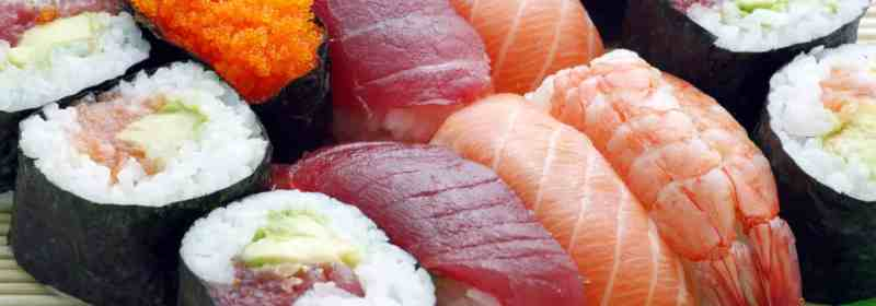 Auswahl an Sushi