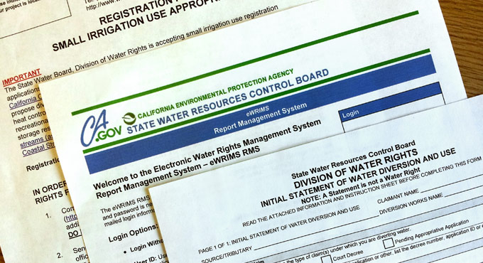water rights documents