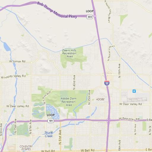 Area Map of Stetson Valley & Stetson Hills