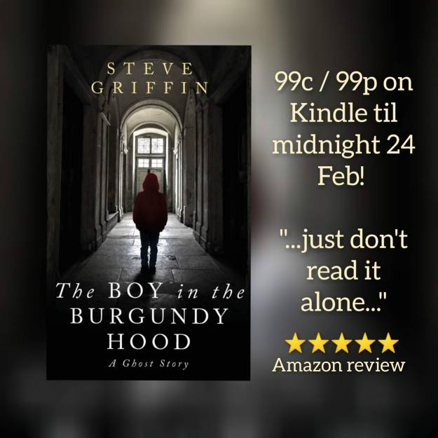 The Boy in the Burgundy Hood ghost story Bookbub sale 21-24 Feb 2021