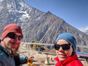 Balcony of our guesthouse in Tengboche