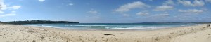 Panorama of Merimbula beach