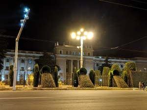 Presidential Palace in Dushanbe at night
