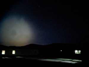 Strange light in night sky