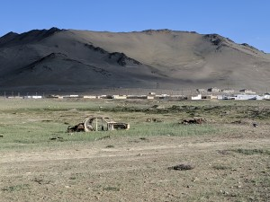 Village at Lake Karakul