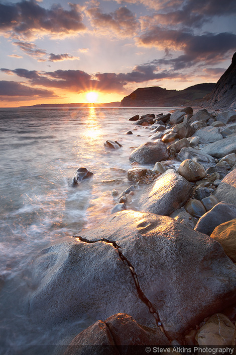 Jurassic Coast Photo Of Rocks At Sunset In Dorset England