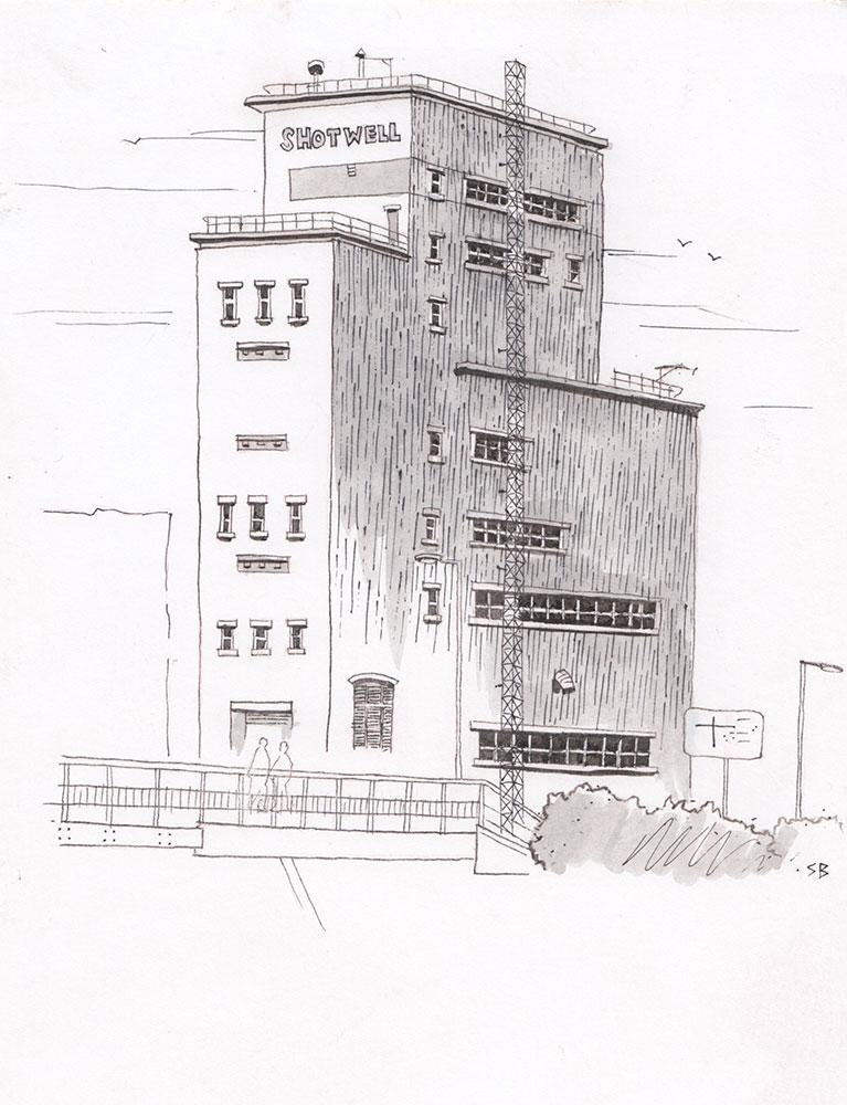 shotwell-tower-ink-inktober-2016-stevebeadleart