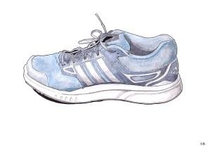 running-shoe-inktober-2017-ink-watercolour-steve-beadle-art