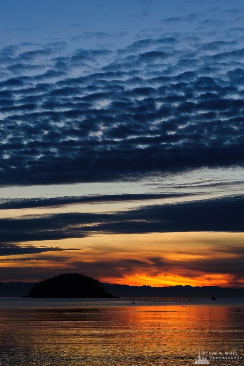 Early Winter Sunset, Bowman Bay, Washington, 2017
